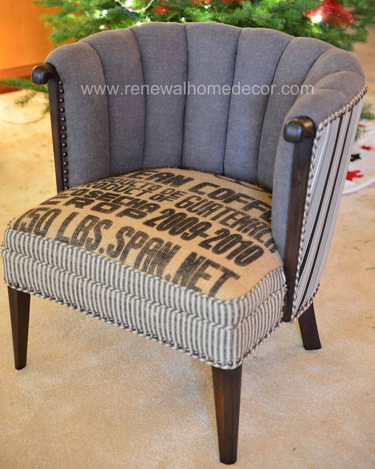 "Upholstered Accent Chair - ""Clean Coffee 2"". $800.00, via ..."