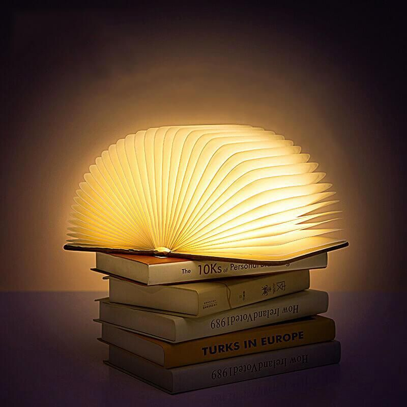 Folding Wooden Book Lamp Book Lamp Lamp Book Lights