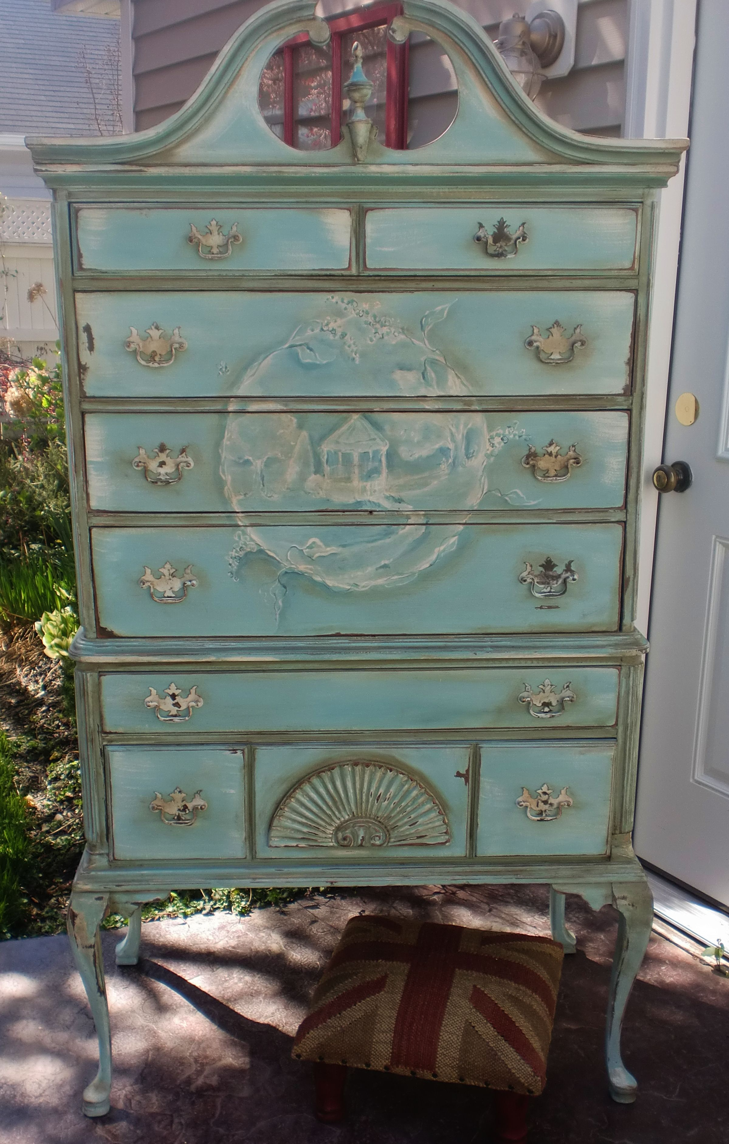 Best 5 High Boy A Tall Chest Of Drawers Divided Into Two Sections And Supp… Refinishing 400 x 300