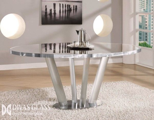 Crystal Glass Dining Table Crystal Dining Table That Reflect The