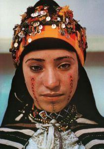 Kabyle Berber Of North Africa Berber Women Berber Tattoo Woman Face