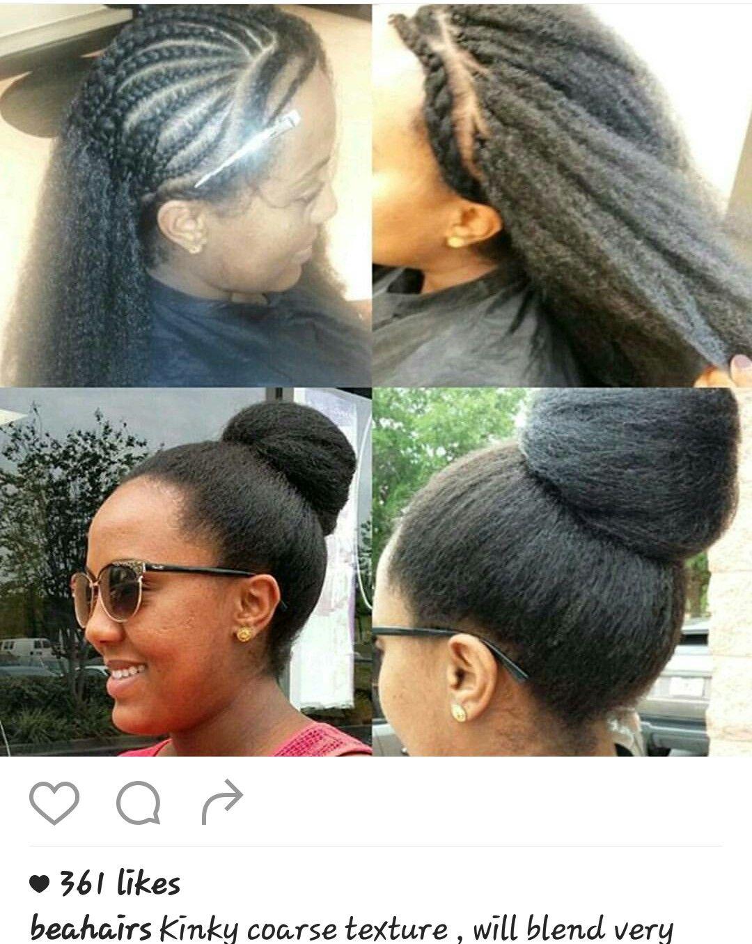 Crochet braids ponytail hair blended hair ideas pinterest