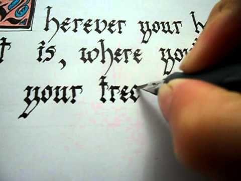 Gothic Calligraphy Writingavi