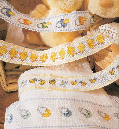 Punto croce schemi gratis asciugamani idee per neonati a for Idee punto croce neonati