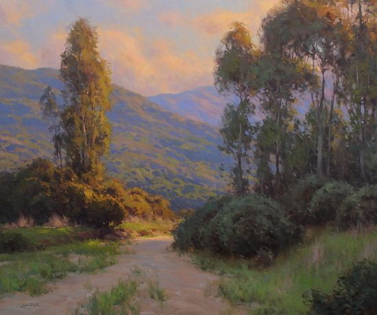 Evening Light  Catalina Island by Jesse Powell Oil ~ 40 x 48