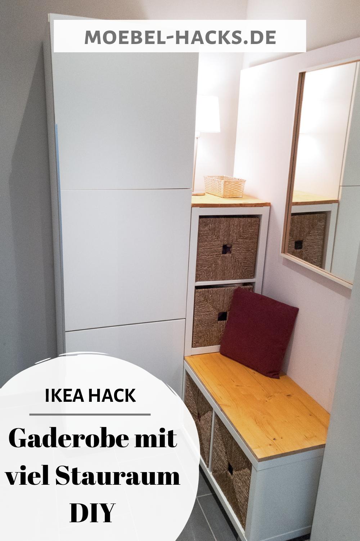 Gaderobe Mit Viel Stauraum Ikea Hack Flurideen In 2020 Ikea Hack Home Decor Ikea