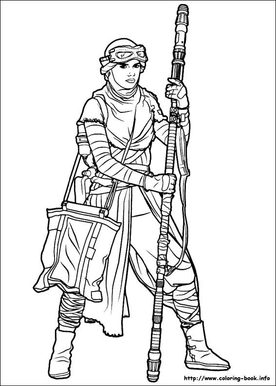 Star Wars  The Force awakens coloring picture LineArt Star Wars - best of chopper star wars coloring pages