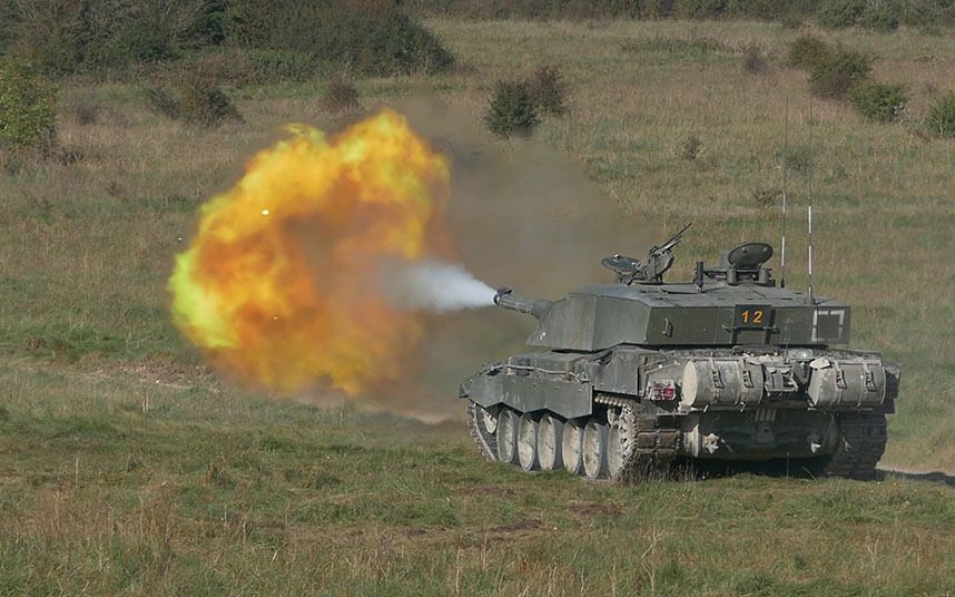 The army showcases the might of the British forces with a live firing exercise on Salisbury plain