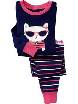 Cat-Graphic PJ Sets for Baby