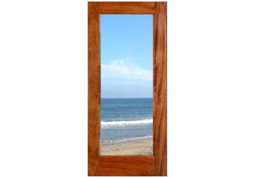 Mahogany 1 Lite Dual Glass Exterior Door 1 3 4 Fd1l Exterior Doors With Glass Eto Doors Glass French Doors