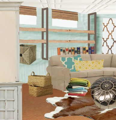 julia's tricky basement, it's many needs, and a few fresh ideas to help them really love their space!