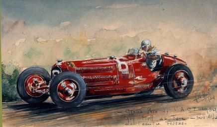 Evocative painting of Guy Moll in his Alra.