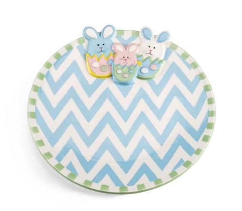 Chevron Bunny Platter