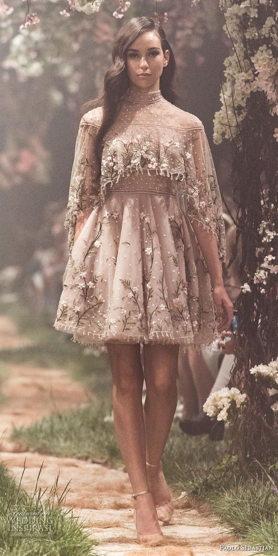 Cute short wedding dresses  Paolo Sebastian Spring  Couture Collection u ucOnce Upon A Dream