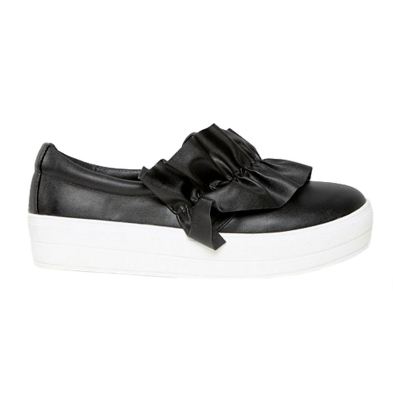 Missguided Ruffle Detail Slip On Sneaker
