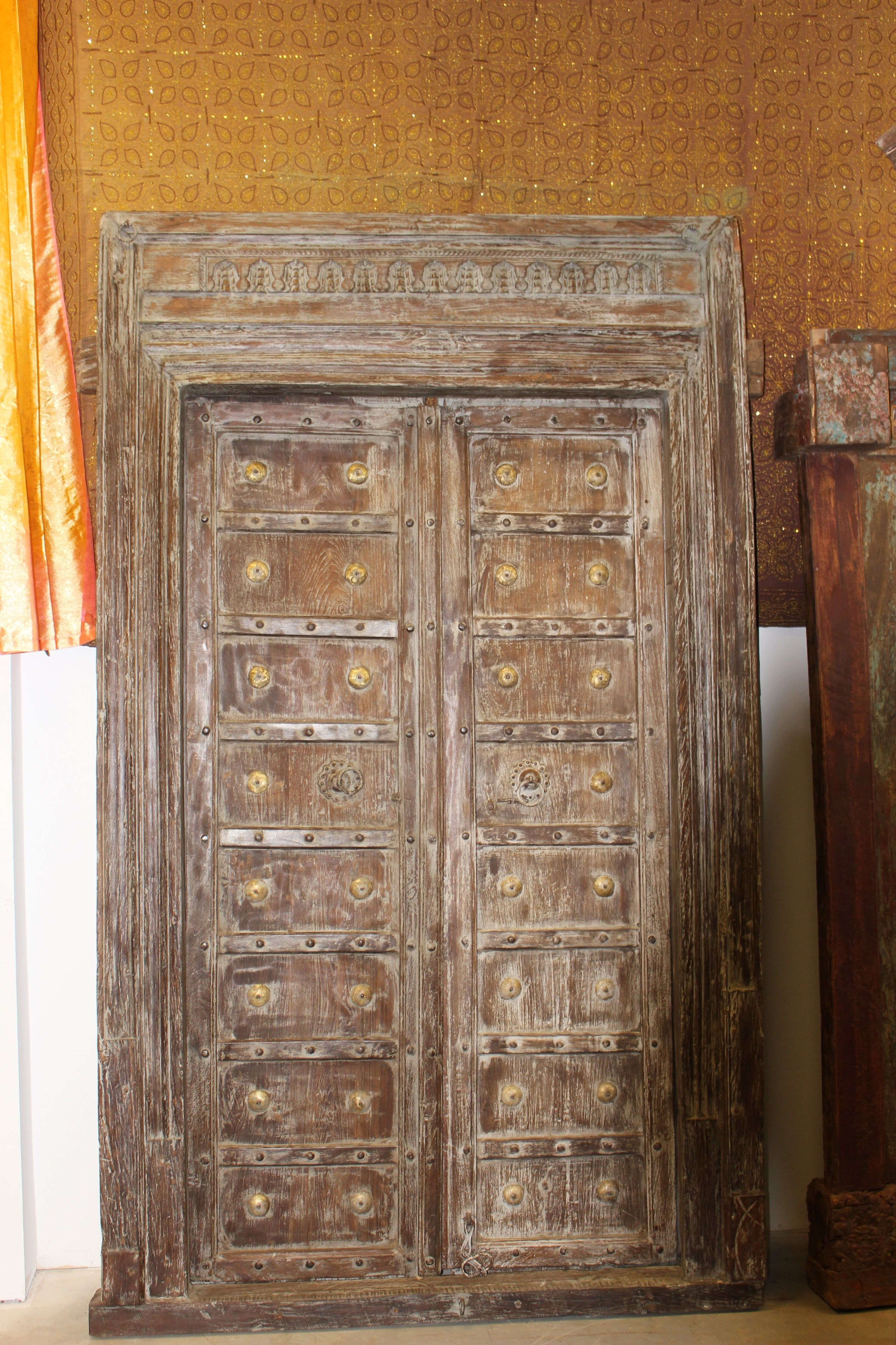 Pin By Mogul Interior On Antique Door Creating A Meditation Space Antique Door Antiques Farmhouse Style