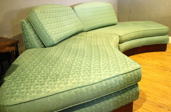 Vintage Sofa Semi Circle Couch Mid Century By Luckysevenvintage 1300 00 Vintage Sofa Sofa Shop Retro Couch