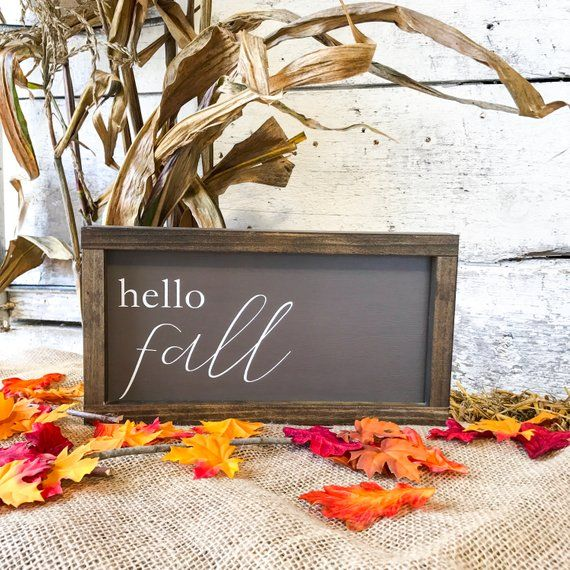 REVERSIBLE Holiday Sign, Hello Fall Sign, Country Fall Decor, Fall