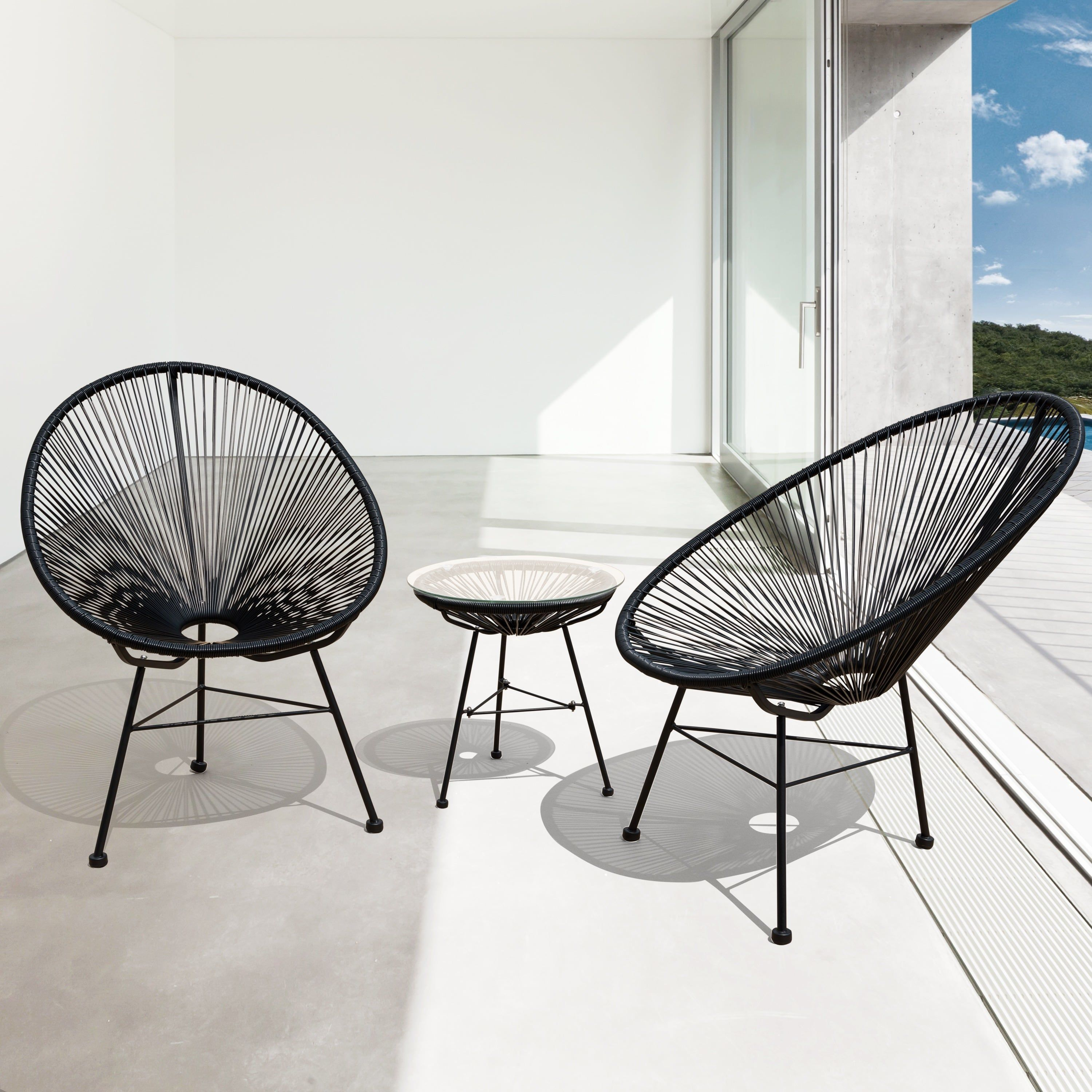 Sarcelles Modern Wicker Patio Chairs By