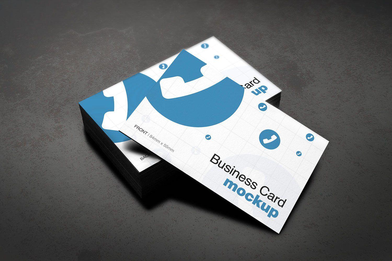 European Size Business Card Mockup Business Cards Mockup Psd