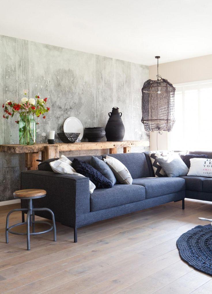 blauwe bank  Home  Living room  Blauwe bank woonkamer