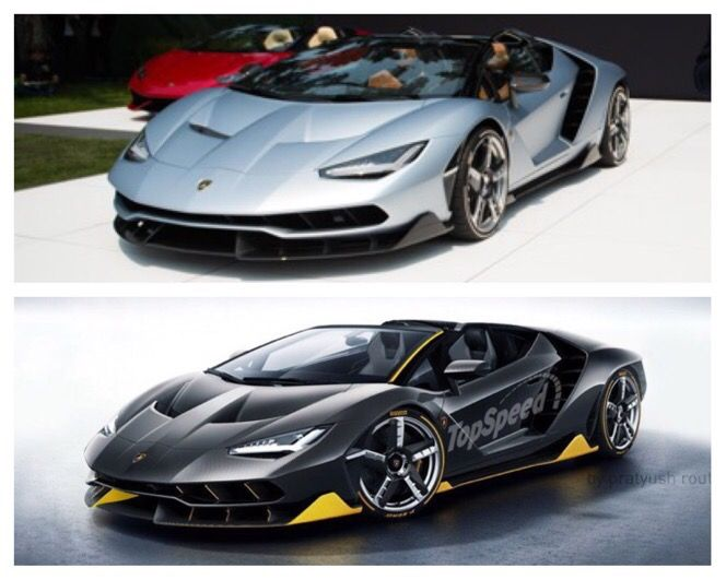 Lamborghini Centenario Roadster Real Versus Rendering Sports Cars