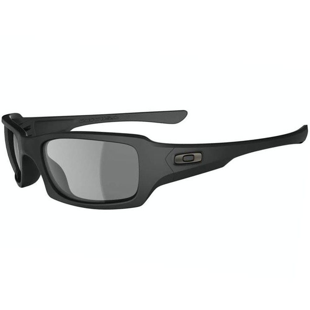 Oakley SI Fives Squared Sunglasses Matte Black Frame with Grey Lens…