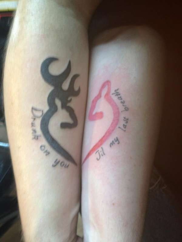 With the words you and me against the world couple for Strange world tattoos