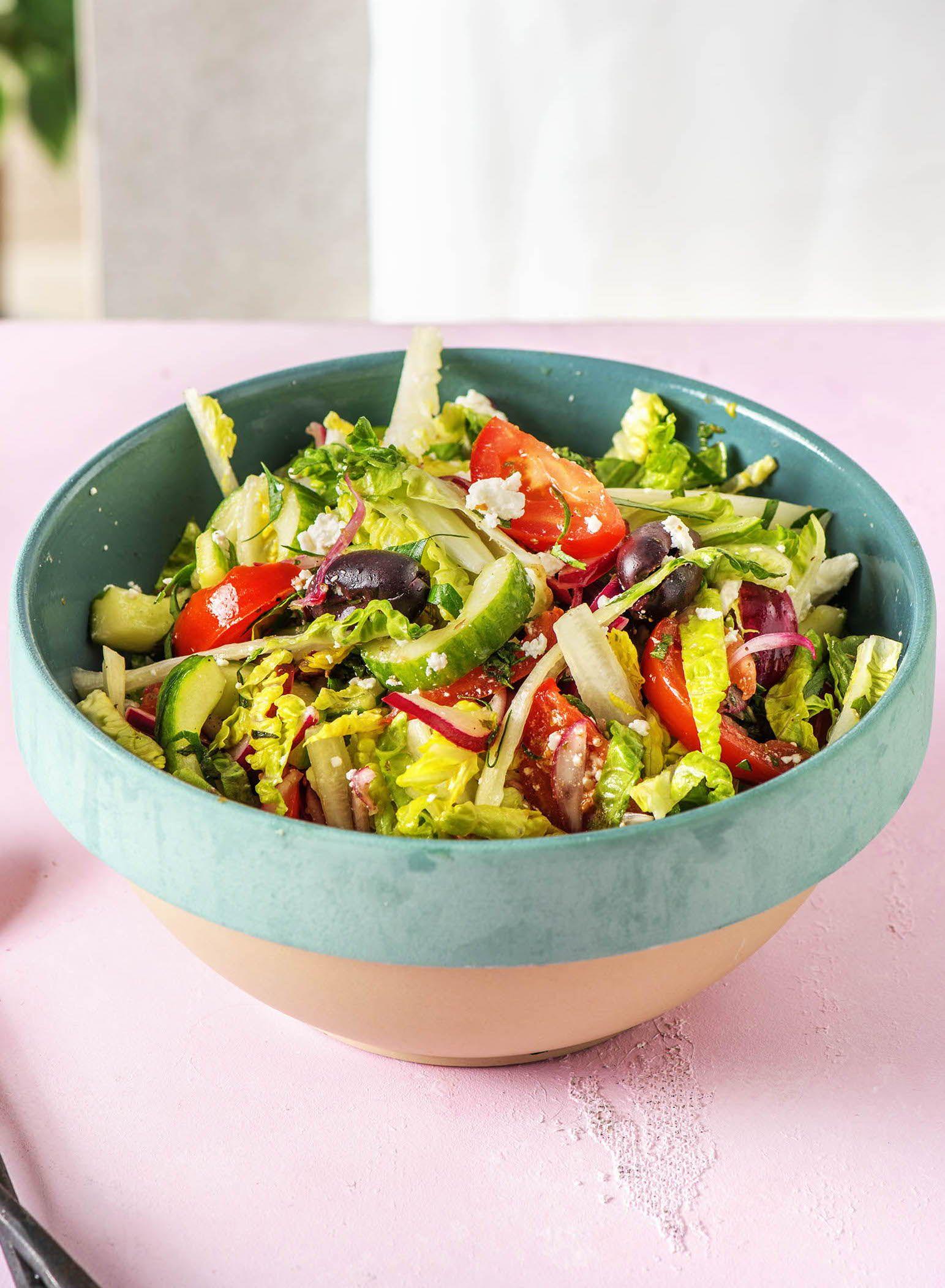 Griechischer Salat Für 2 Personen 25 Minuten Vegetarisch