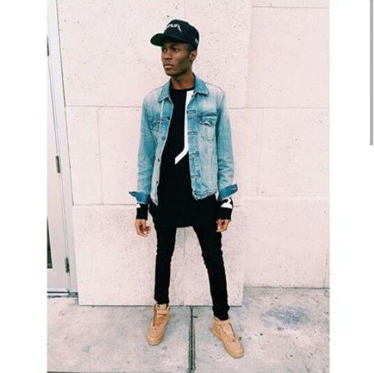 Slim fit jean, wheat sneaks