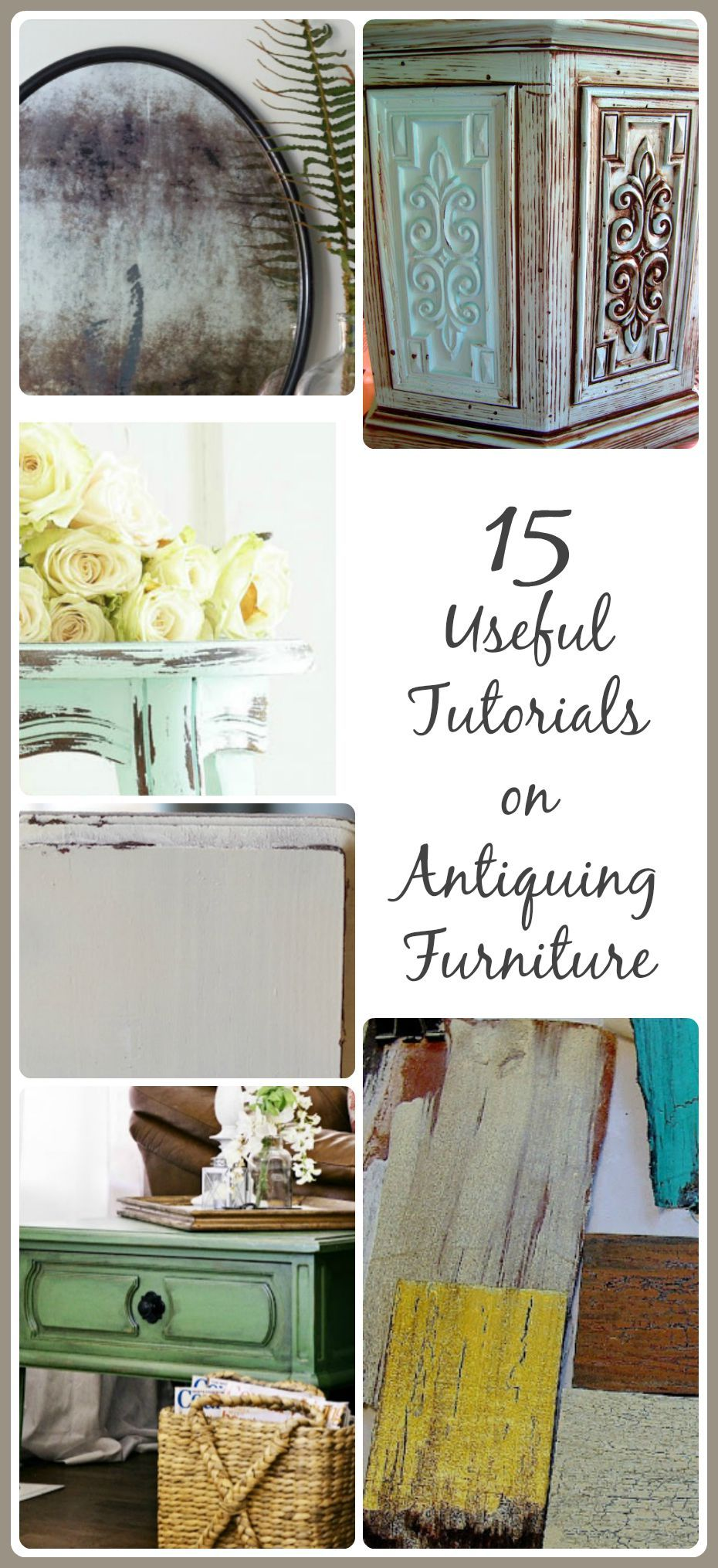 15 Useful Tutorials On Antiquing Furniture
