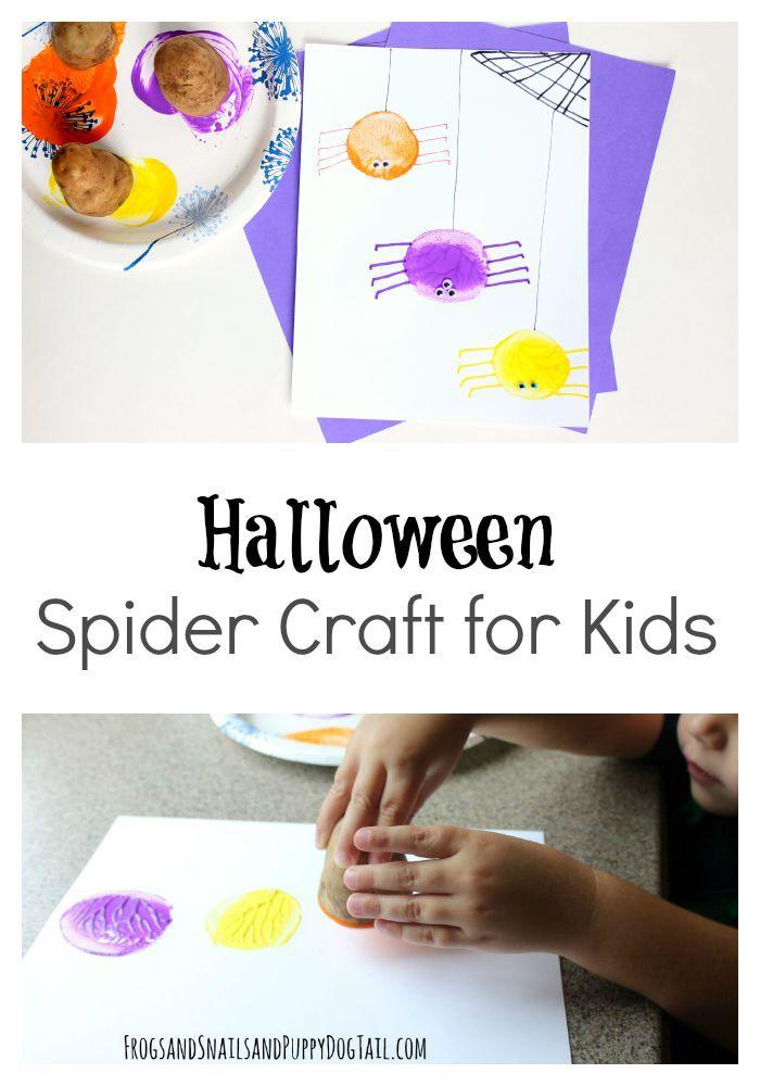 Halloween spider craft for kids