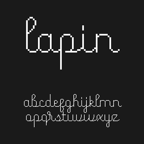 Cute 8-bit Style Script Font With Latin Letters In