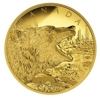 Canada 2016 1250 Roaring Grizzly Bear 1 2 Kilo Gold Proof Coin Coins From World Eng In 2020 Gold Coins Coins Gold Stock