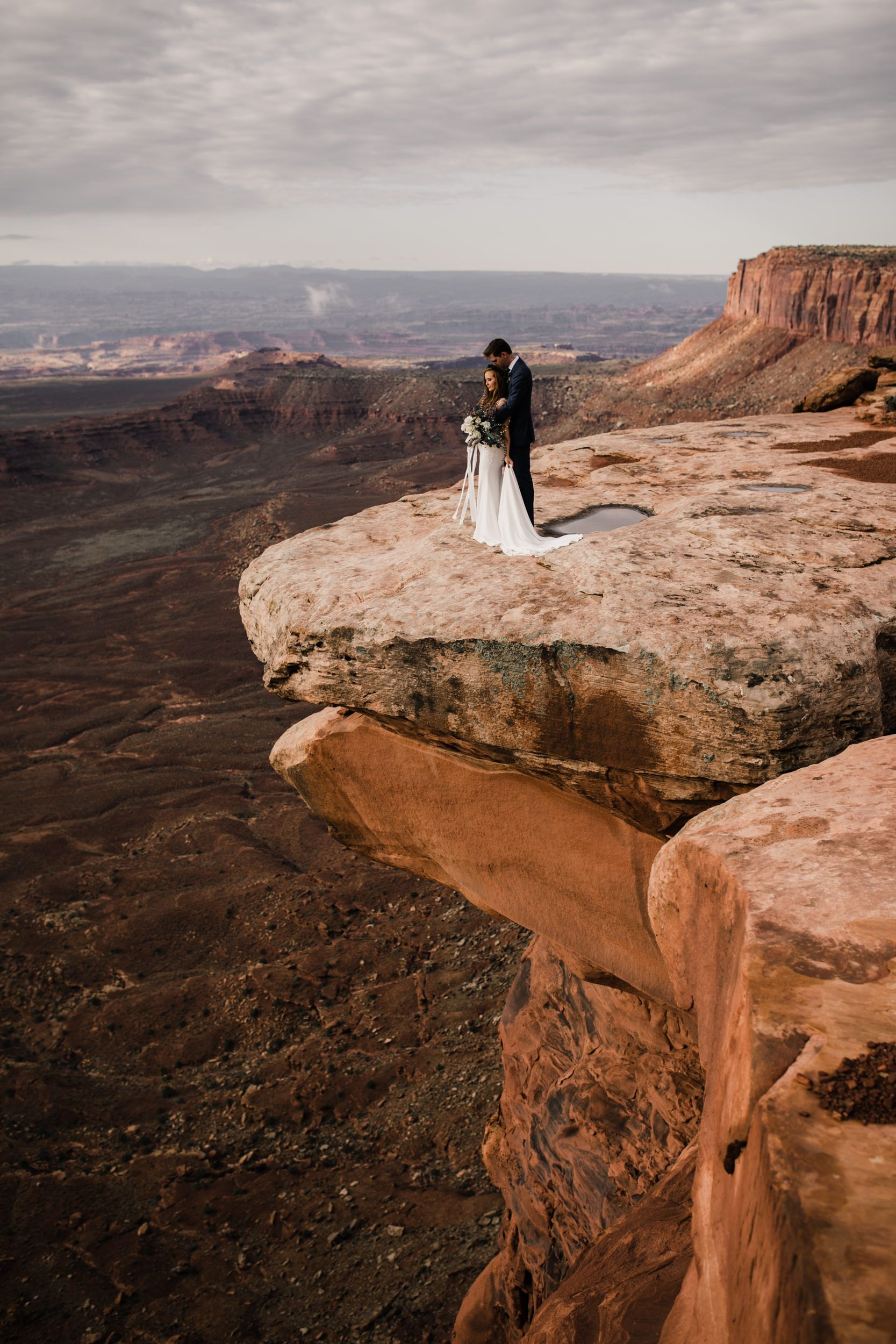 Cliffside Elopement In The Desert Adventure Wedding Photographer
