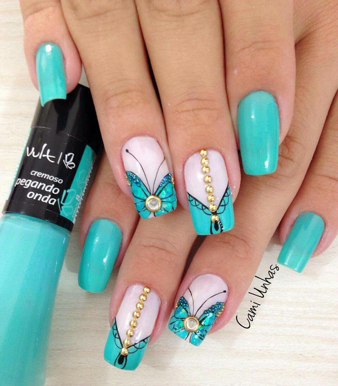 Pin de Sheila Motta en UNHAS | Pinterest | Diseños de uñas, Diseños ...
