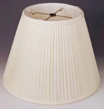 Side Pleated Silk Empire Lamp Shade Cream White 8 20 W Lamp