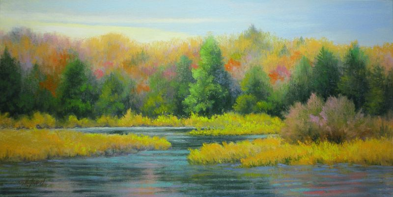 ©2013 Paula Ann Ford, Moose River Colors, Soft Pastels on Ampersand Pastelbord…