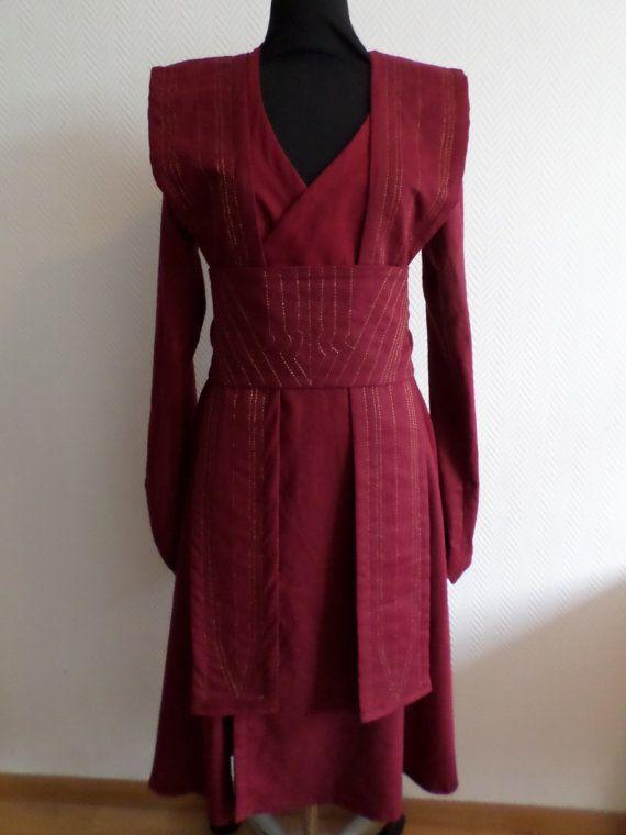Made to order: Burgundy linen Star Wars inspired Jedi robe,dress ...
