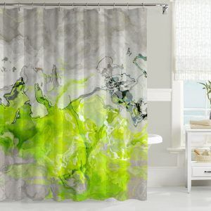 Bright Green Shower Curtains
