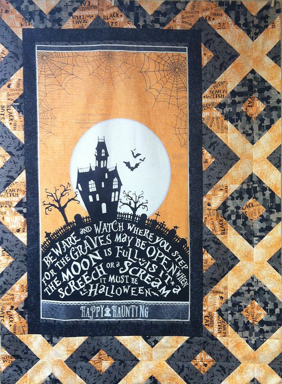 Quilt Kit - Halloween Come Sit a Spell Wall Hanging Kit in 2019