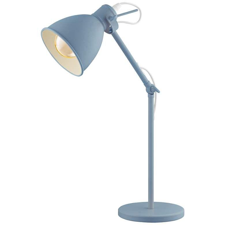 Eglo Priddy P Pastel Light Blue Adjustable Desk Lamp 85y37 Lamps Plus In 2021 Adjustable Desk Lamps Desk Lamp Lamp