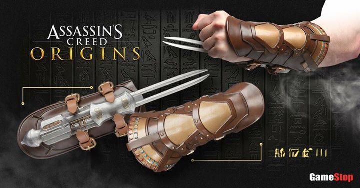 First Look At The Assassin S Creed Origins Hidden Blade Replica By Think Geek Http M Gamesto Assassins Creed Assassins Creed Origins Assassins Creed Hoodie