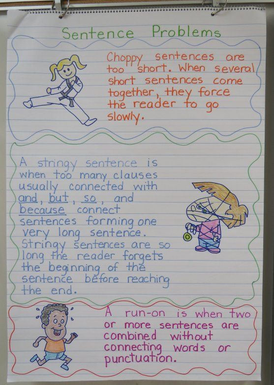 Teaching students to write a narrative varying sentences sentence problems anchor chart plus free foldable organizer to go in students interactive notebooks ccuart Images