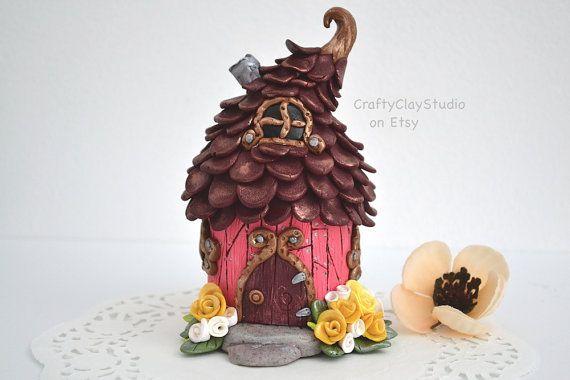 Crafty Clay Studio fairy-house-fairy-garden on etsy