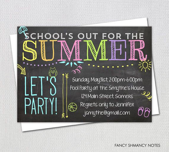 pool party invitation   end of year party    by