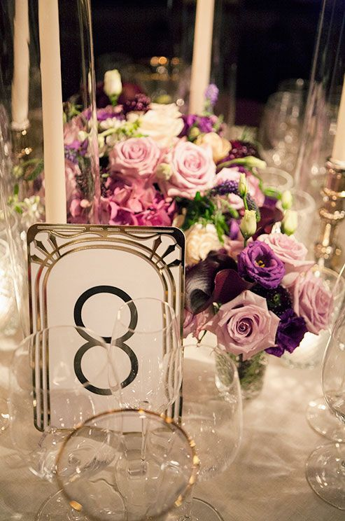 Astounding Gatsby Inspired Table Number Weddingideas Tablesetting Home Interior And Landscaping Elinuenasavecom