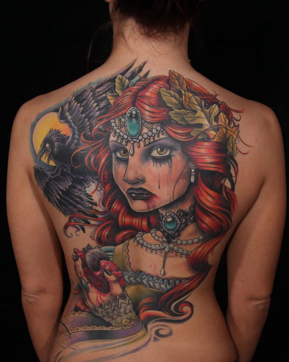 Awesome back piece by sausage from inkmaster Ink master
