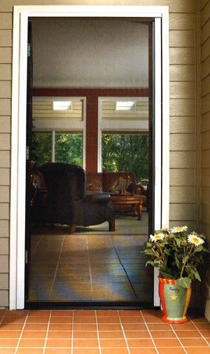 Fresh Retractable Screen Doors from Larson Does anyone know of a good way to do an attractive screen door solution for a deck Sliding French door screens - larson retractable screen door Simple