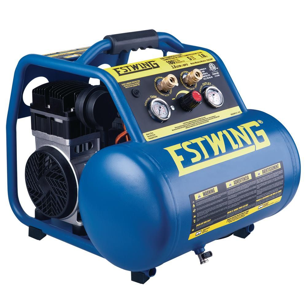 Estwing 5 Gal. Quiet High Pressure OilFree Compressor